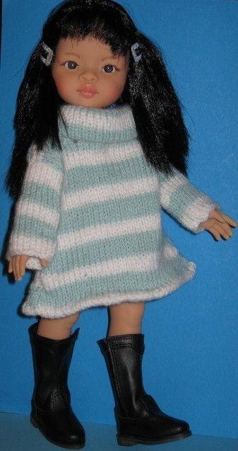 Robe à rayures pour poupée chérie de Corolle